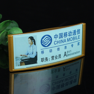Custom fancy ABS printing name badge made in China