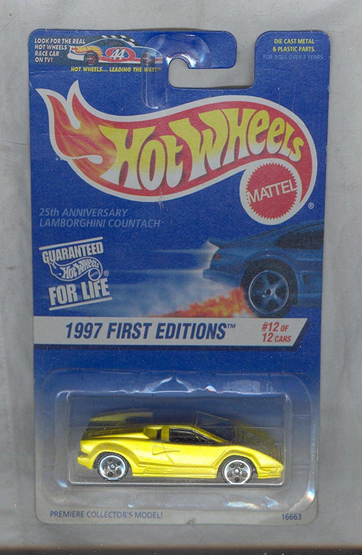 Hot Wheels 1997-510 First Edition 25th Anniversary LAMBORGHINI COUNTACH 1:64 Scale