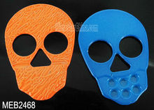 DIY colorful zinc alloy skull beads for jewelry making