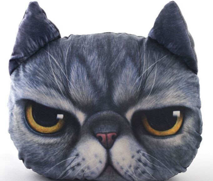 Aimigou Plush Animal Shaped Cat Face Pillows Buy Plush