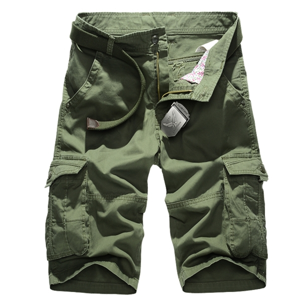 Military Shorts Army Green Men Summer Short Trousers Size 29-38 2015 Man Cargo Shorts Work Overall Bermuda Masculina Plus Size