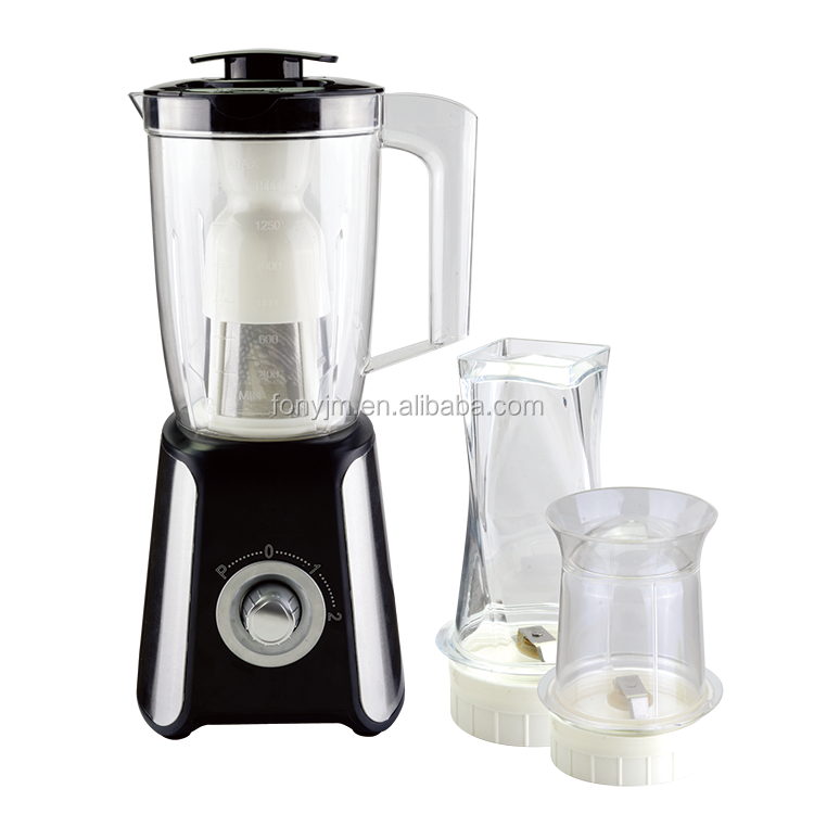 2 in 1 cheap price stainless steel plastic blender