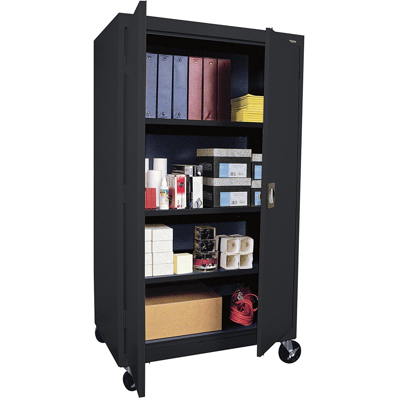 Sandusky Lee TA3R462460-09 Transport Series Mobile Storage Cabinet, Black