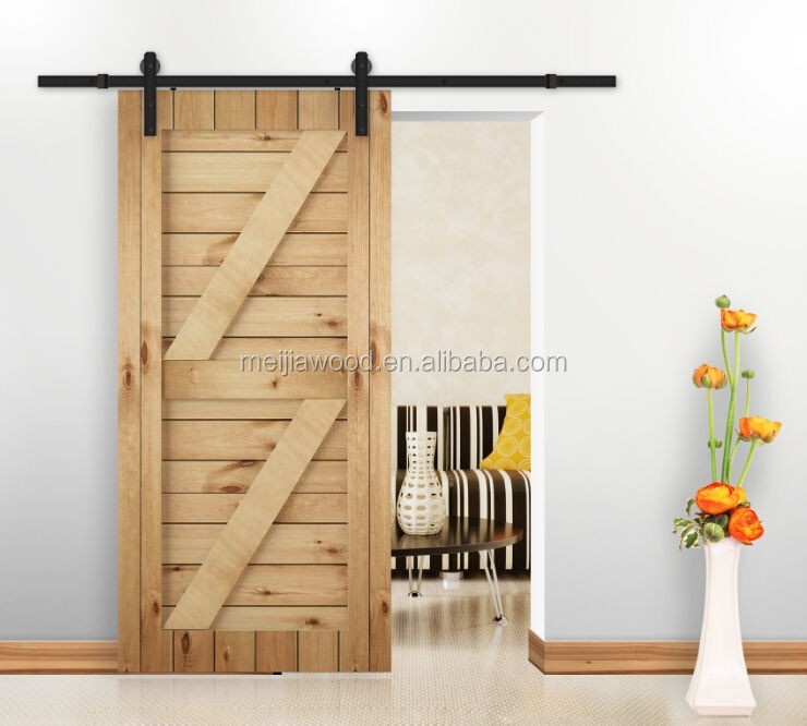 sliding barn door with good hardware made in meijia china