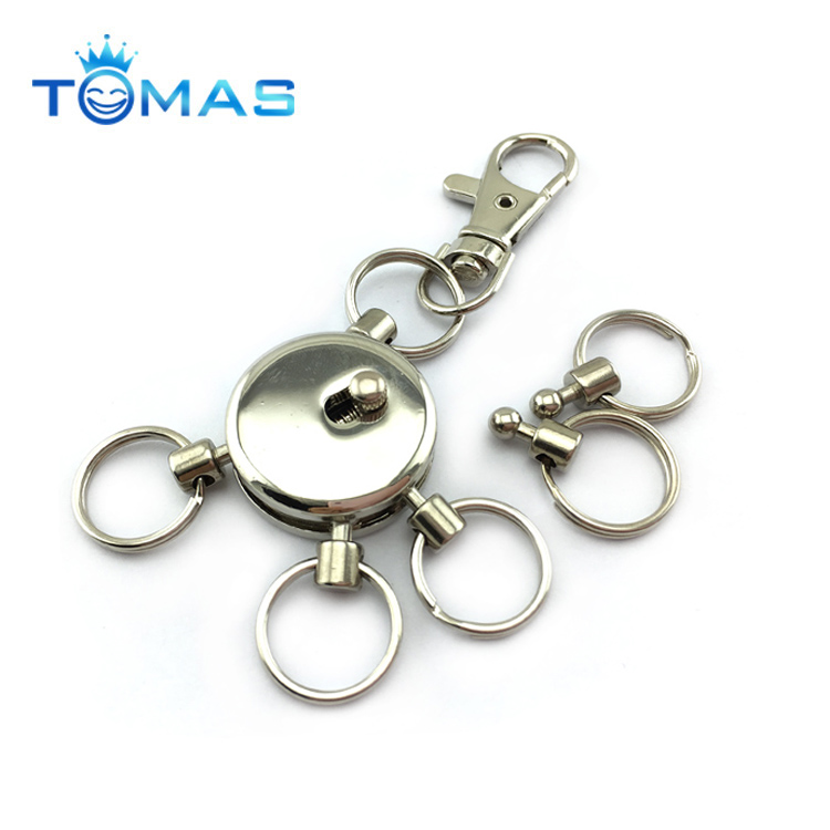 Wholesale new design metal multi ring metal keyholder