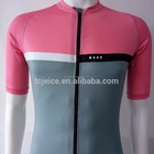 2017 customized sublimation print short sleeve cycling jersey