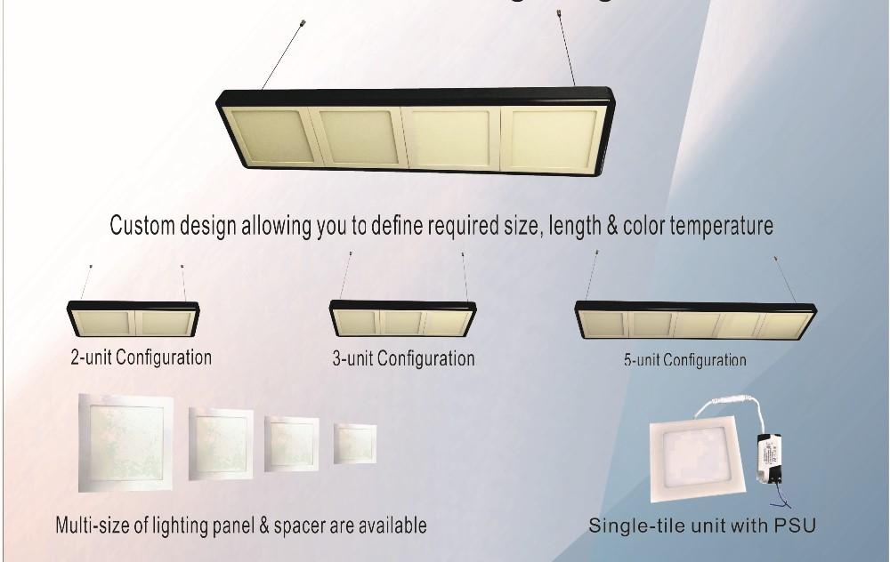 9w Smart-tiled Led Suspended Ceiling Lights Panel Lights For ...