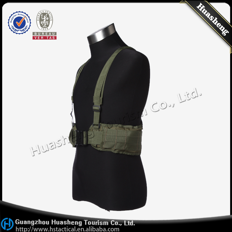 Military Tactical Duty Molle Belt With Suspenders