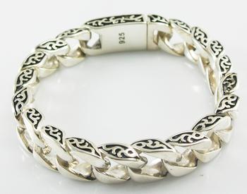 925 Sterling Silver Chain Bracelet For Men