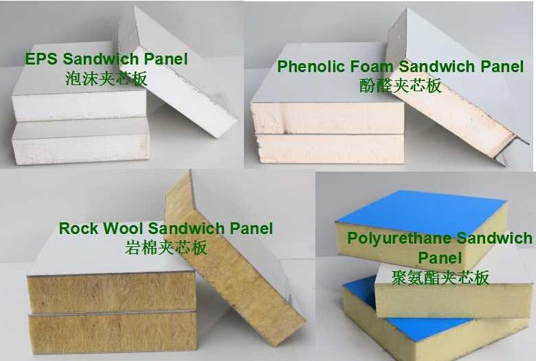 Color Steel Plate Insulation Phenolic Foam Board Partition