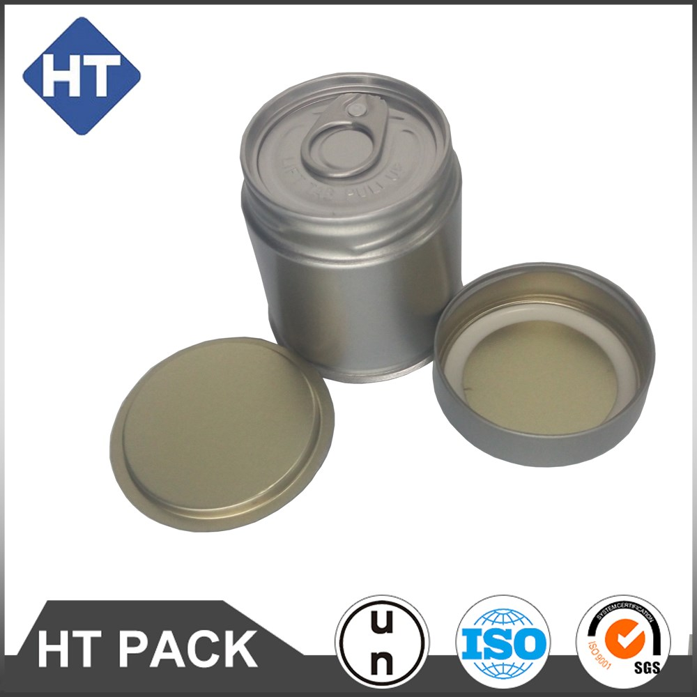 Matcha powder tea can, round tin can