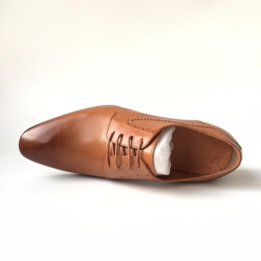 dress 2017 color design shoes latest comfortable men soft light calf leather Brown gwCqC0