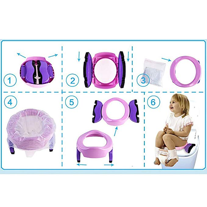 Portable baby Toddler travel training seat potty