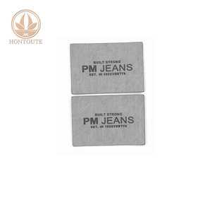 OEM Factory Garment Jeans Fashion Leather Patch PU Labels