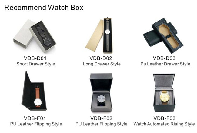 New design luxury watch box 가죽 custom 포장 PU leather