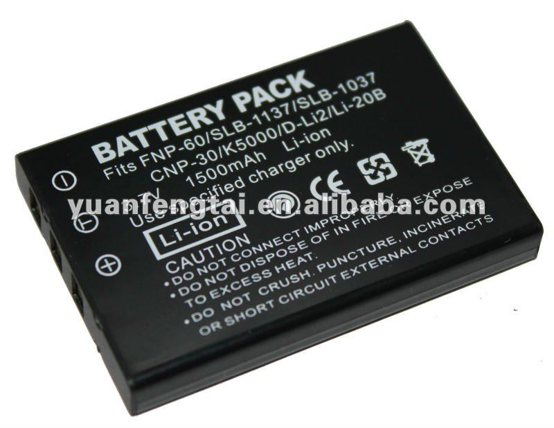For casio digital video camera battery 3.7V 600mah NP-30 FUJI