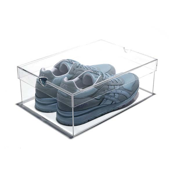 Factory custom top quality slide out acrylic shoe box, China Factory Wholesale Price Sneaker Clear acrylic shoe display box
