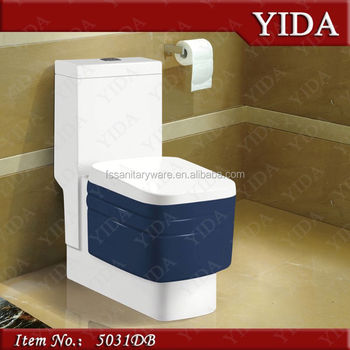 China Top Ceramic Sanitary Ware,Color Wc Blue Toilet,Deluxe