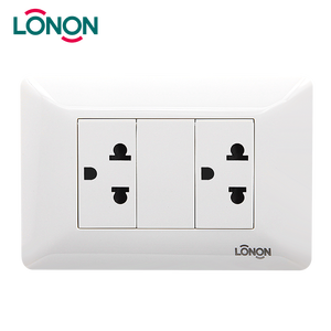 Cheap Hotel Double Wall US Socket Outlet