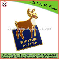Custom made metal gold cloisonne lapel pin
