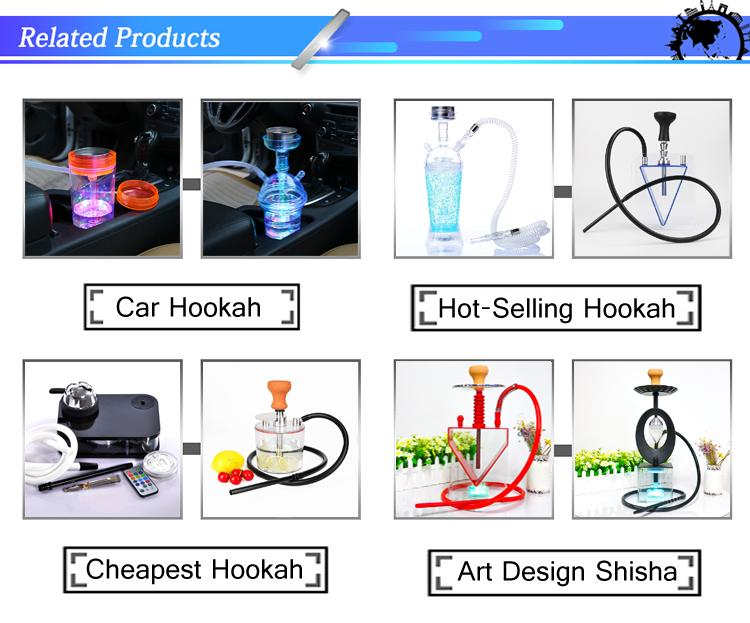 LED Molasses Wholesale car Portable plastic Shisha Hookah Cup