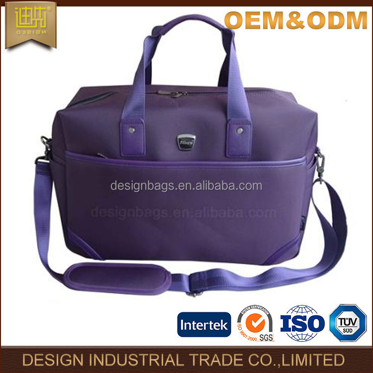 2016 bag factory manufacture luggage bag fashion malfunction travel Simple design purple business nylon luggage