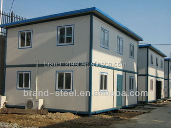 Two story prefab light steel structure wood siding mobile for 2 story modular homes sc