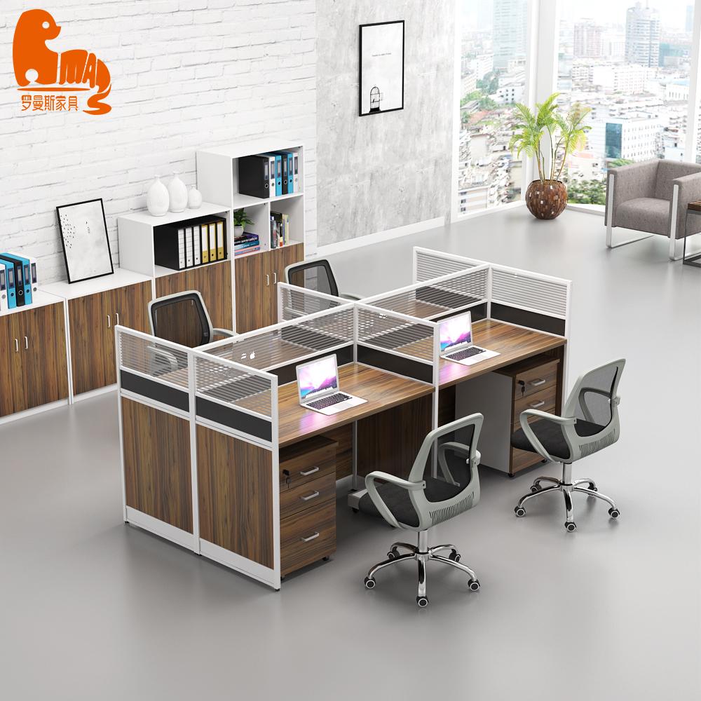 Melamine Open 36 Person Office Furniture Craft Desk Workstations