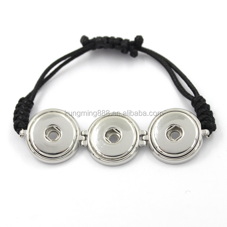 Fashion Design Colorful Snap Button Bracelet Charms Jewelry