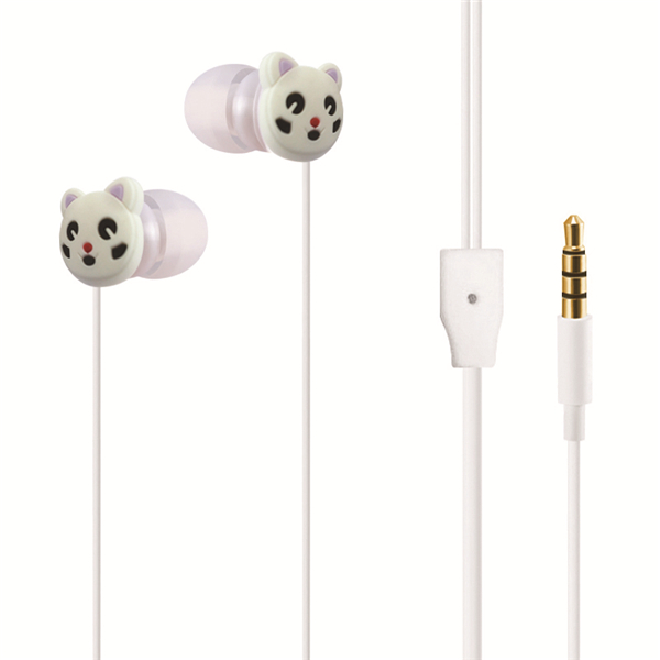 Wired <strong>Communication</strong> 3.5mm In-ear Cartoon Cat Earphones Earbuds For Samsung