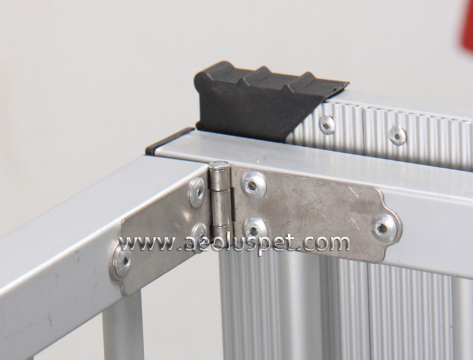 Kb 514nat Foldable Aluminum Dog Trolley Handled Pet Cage