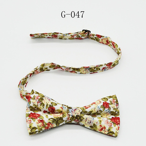 Multiple Colors Wholesale Dot Nice Looking Colorful Cotton Necktie Bowtie,Custom Embroidered Bow Tie