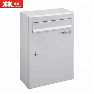 Vertical steel mailbox with name plate galvanized mail box for apartment commercial letter box
