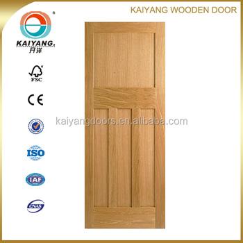 Kaiyang North American Three Panel Interior Engineered Red Oak/Cherry/Alder  Veneer Shaker Flat