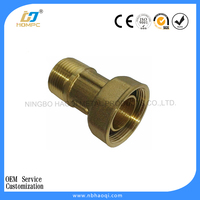 brass water meter connector / connection