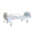 2 cranks manual patient bed/care bed with ABS head and foot board for hospital