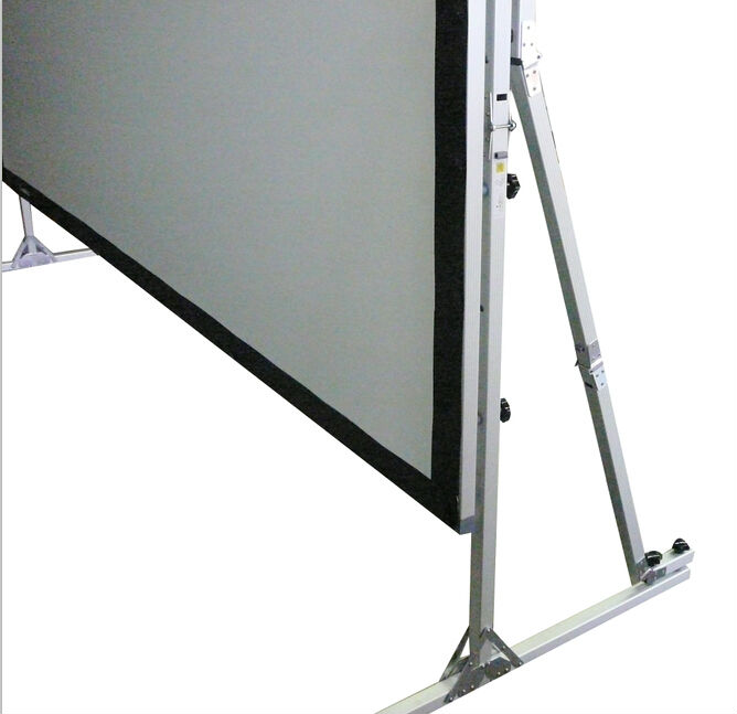 400 inch fast quick fold projection screen with drapes