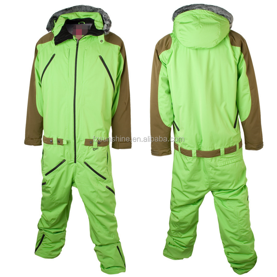 2016 Waterproof Hooded One Piece Ski Suit Adults
