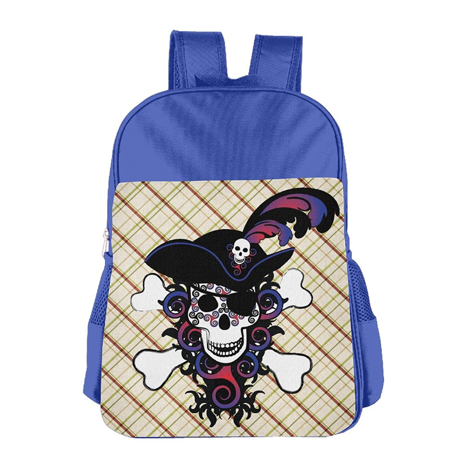 498ad228c70e Get Quotations · Celtic Spiral Pirate In Blues And Reds Kids School  Backpack Bag