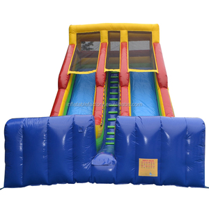 Water park summer inflatable bouncer with water slide