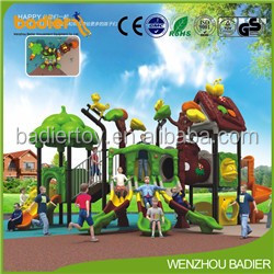 2017 Multifuntional plastic outdoor playground equipment large outdoor