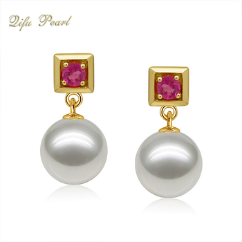 18 K Gold Jewelry Pearl Earring