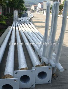 galvanized polyester powder coated tapered street lighting pole