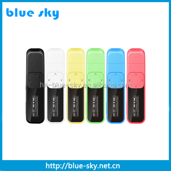 High quality digital mp3 player usb driver with 4GB memory and led display