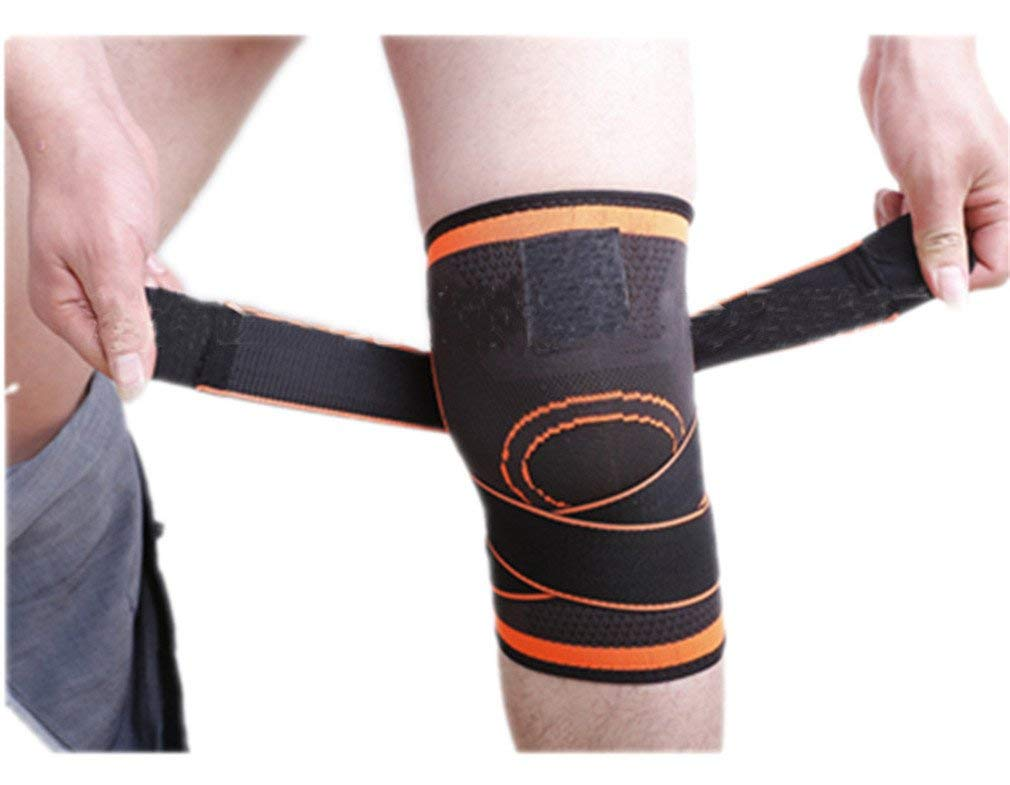 ca9e69813b Get Quotations · Knee Pads 1 Pc 3D Weaving Basketball Support Protective  Pressurized Sports