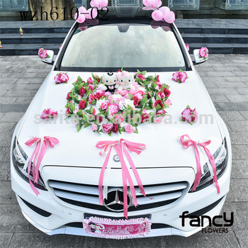 Factory Whole Heart Shaped Wedding Car Decoration Flowers