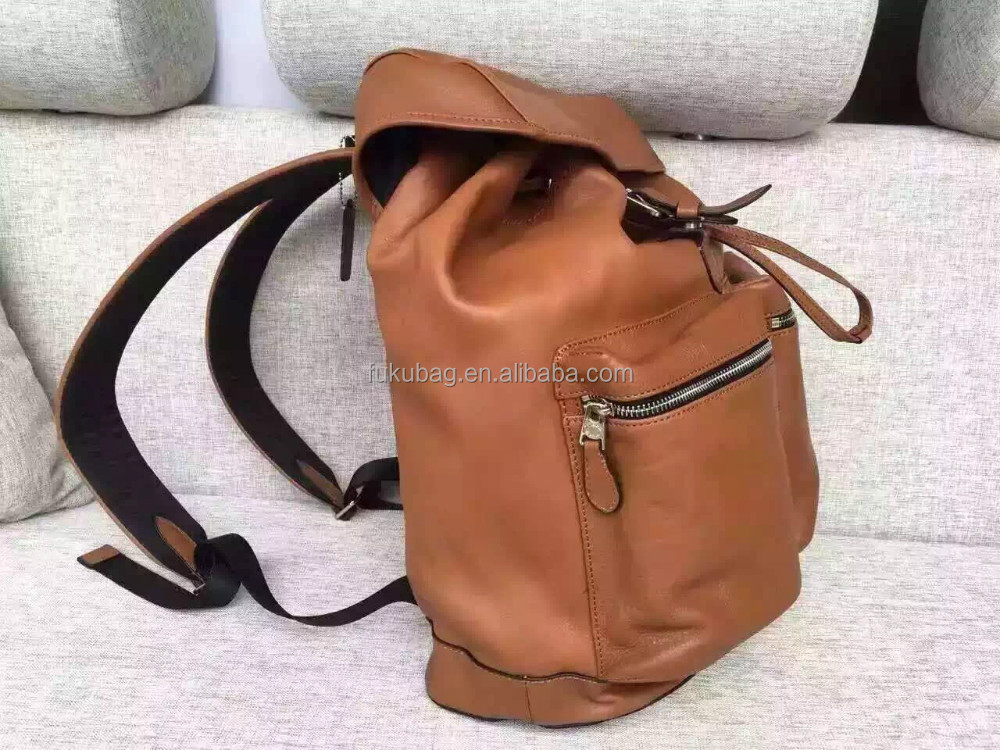 Wholesale women genuine leather backpack leather bag
