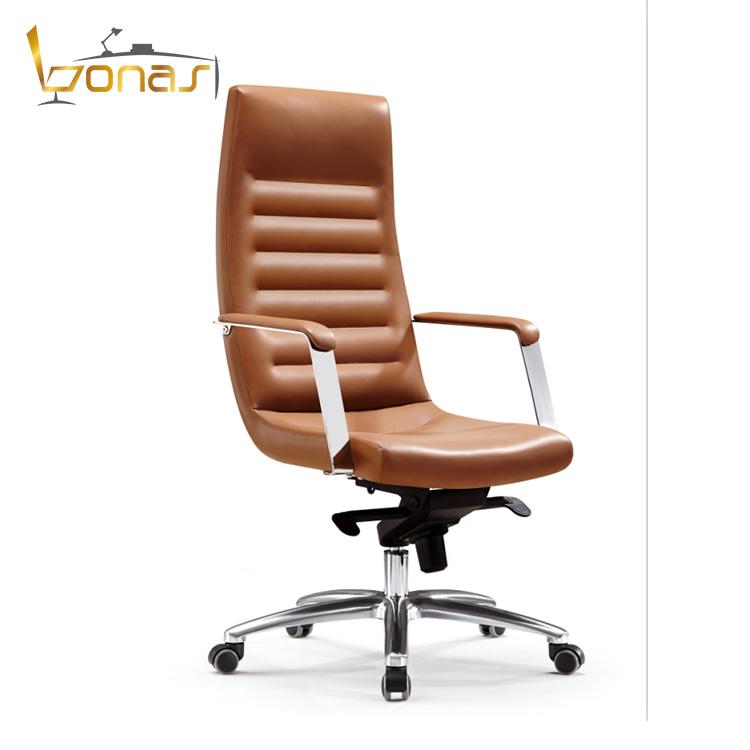 Luxury Pu Italian Leather Office Chair