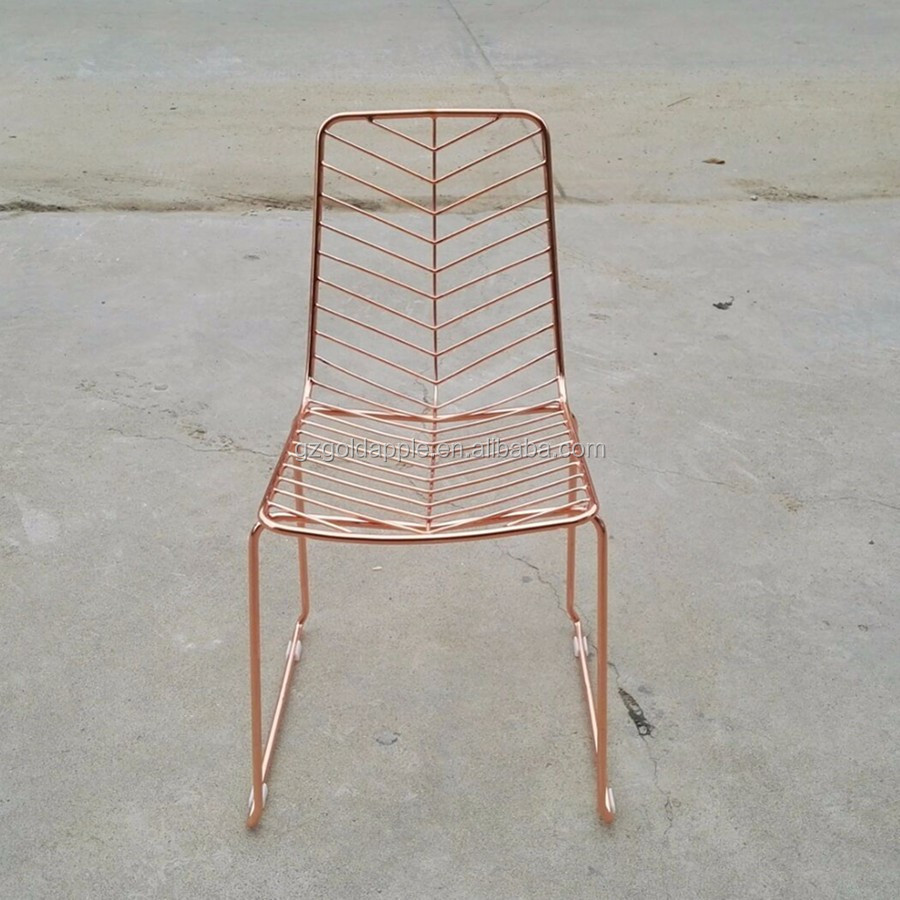 Biscayne wire chairs - Ize Your Dining Room With Metal Chairs