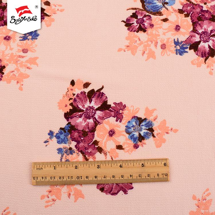 Good quality wholesale knitted dress polyester custom printed fabric for women